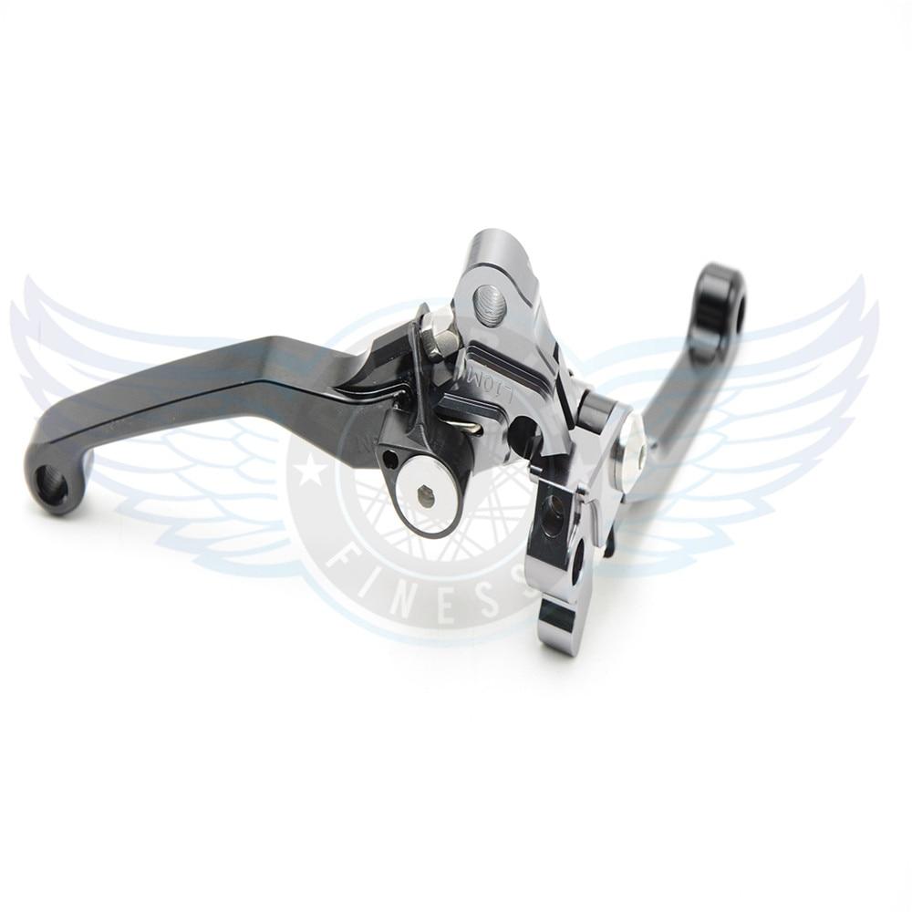 ФОТО CNC motorcycle Pivot Brake Clutch Levers black motorbike brake clutch lever For KTM 350 SX-F/XC-F/XCF-W/EXC-F 2011-2013