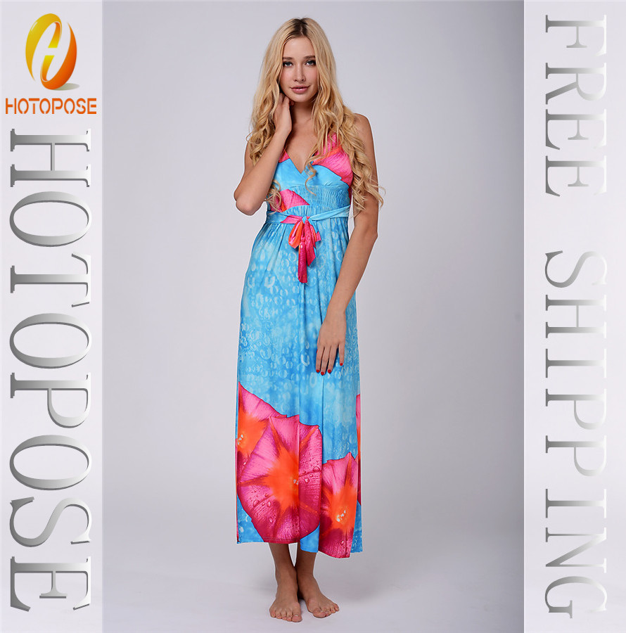 Beautiful design red big flower print sexy girls without any maxi dress  2014 in Dresses from Women s Clothing   Accessories on Aliexpress com    Alibaba. Beautiful design red big flower print sexy girls without any maxi