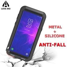 جراب ماركة Love Mei لهاتف سامسونج Galaxy S8 S9 Plus Note 8 Note 9 غطاء هاتف معدني لهاتف سامسونج S9 S8 Plus غطاء حماية ضد الصدمات