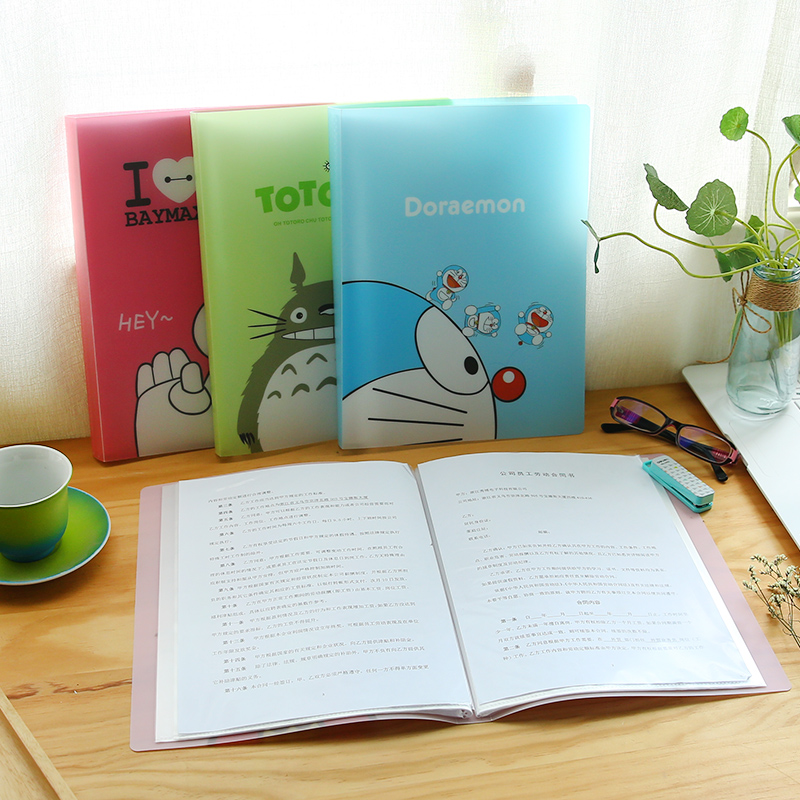 Z36 Kawaii 10 Pockets Totoro A4 Document File Bag Paper Storage Holder For Papers Stationery Kids Gift