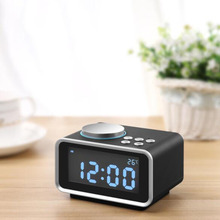 Cheapest prices Alarm Clock Multi-function FM Radio  Snooze Indoor Thermometer Dual USB Port Charger LCD Clock Hogard