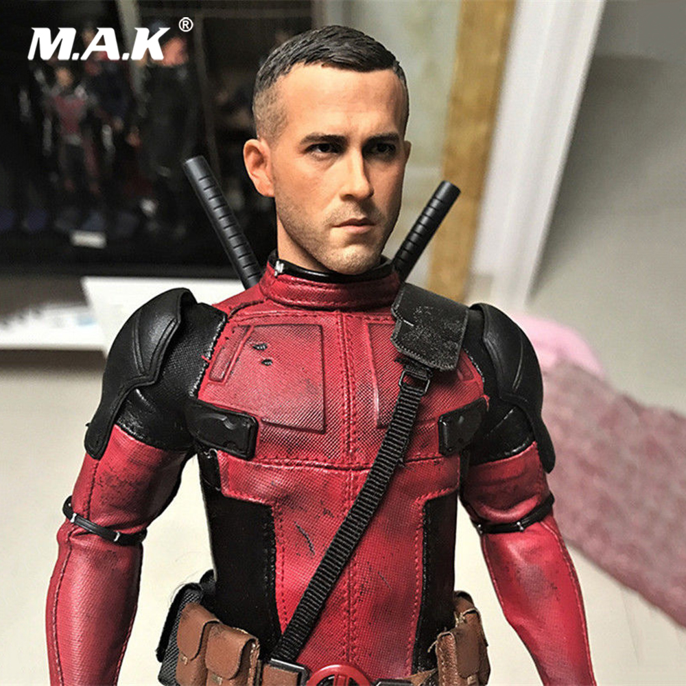"1:6th Scale Ryan Reynolds Head Sculpt Wolverine Deadpool For 12/"" Figure"