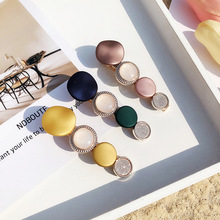 Korean New Vintage Colorful Stone Long Barrettes For Women Fashion Jewelry Hairpins Hair Clips Wholesale Yellow Pink Color