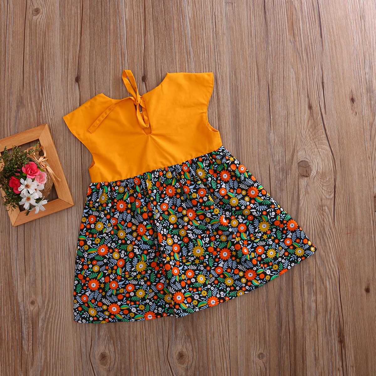 Bohemian-Floral-Toddler-Baby-Kids-Girls-Summer-Lace-Flower-Sundress-Party-Dress-Clothes-0-4T-5