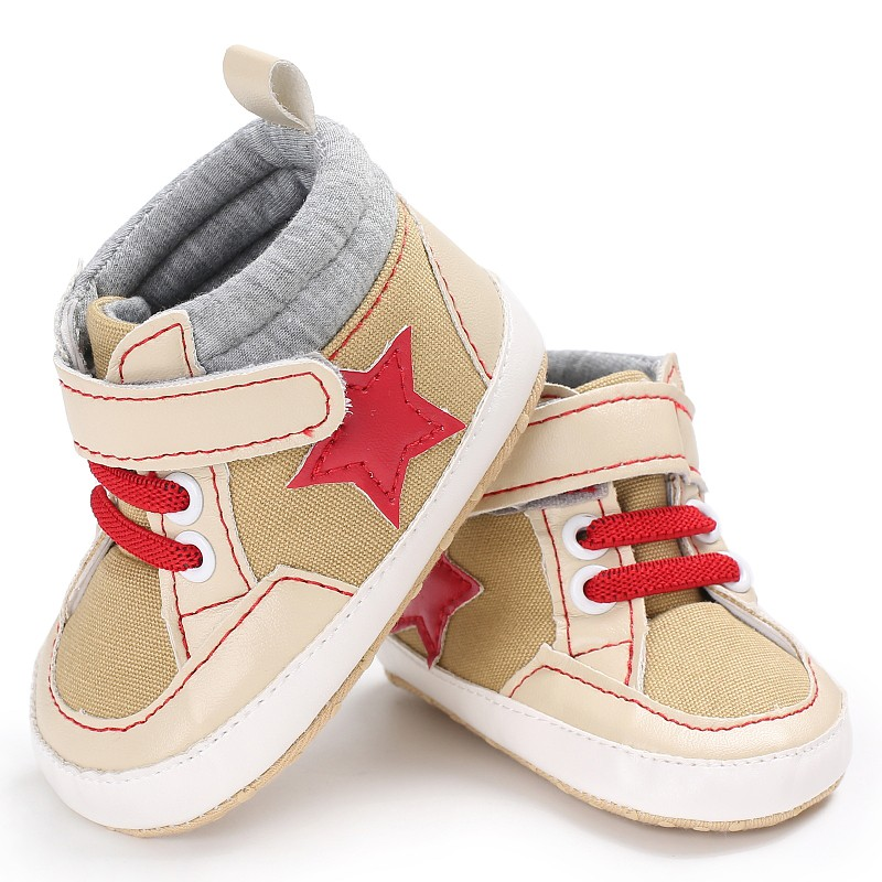 New Stars Printing Canvas Classical Baby Boy Shoes Soft Sole First Walkers Baby Shoes