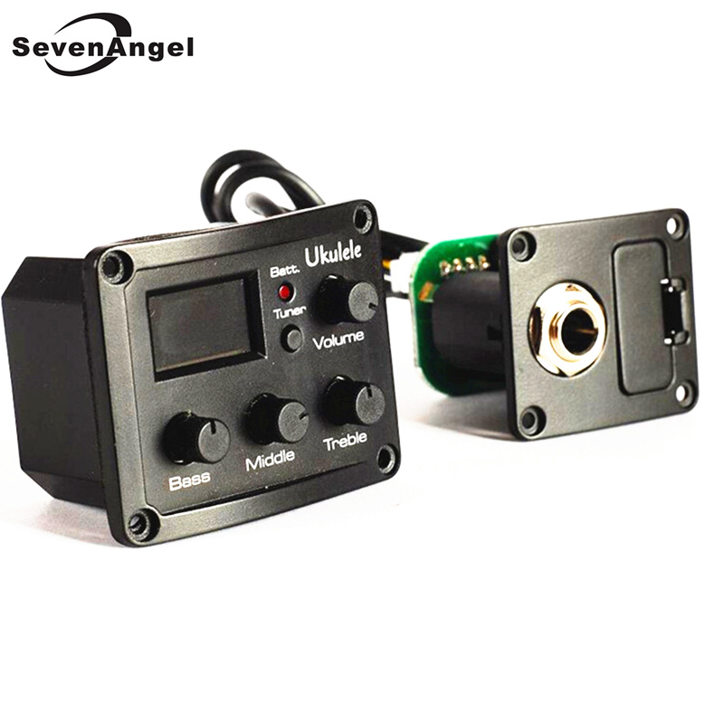 SevenAngel High Quality Ukulele  3-Band EQ Equalizer Preamp Amplifier Tuner Piezo Pickup With LCD Display Wholesale