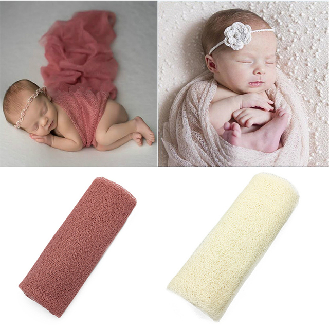 16050cm mesh gauze cheesecloth wraps baby to maternity newborn photography props hammocks for newborn