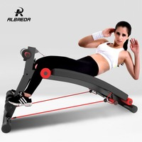 ALBREDA Step by multifunction supine board Pull rope bench crunches abdomen machine abdominal chair home sport fitness equipment