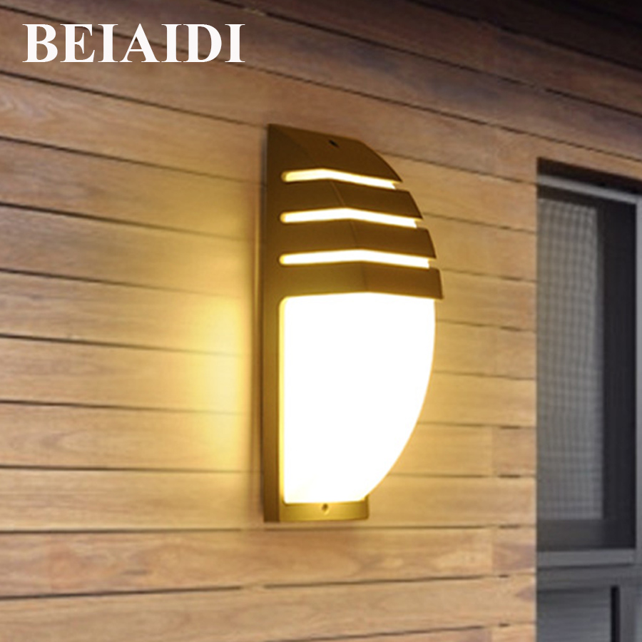 BEIAIDI 20W IP65 Waterproof Led Wall Lamp 40Leds Outdoor Corridor Garden Hotel Pathway Porch Light Aluminum Wall Sconce 100-240V thrisdar 20w ip65 waterproof wall lamps 40leds outdoor garden porch wall sconce lamp corridor garden hotel pathway porch light