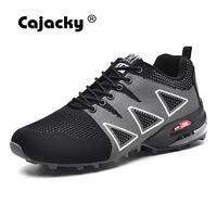 Cajacky 2018 New Men Sneakers Plus Size 47 Men Casual Shoes High Quality Men Shoes Summer Breathable Mesh Trainers Fashion Shoes