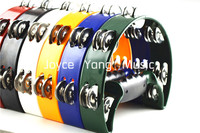 Halfmoon Shape Tambourine Percussion Tambourine Metal Jingles Free Shipping