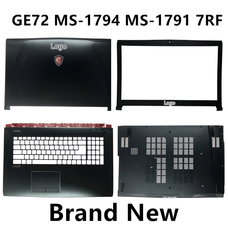 Brand New Laptop Case Cover For MSI GE72 MS-1794 MS-1791 7RF Top Cover /LCD Bezel/Palmrest/Bottom Base Cover Case image