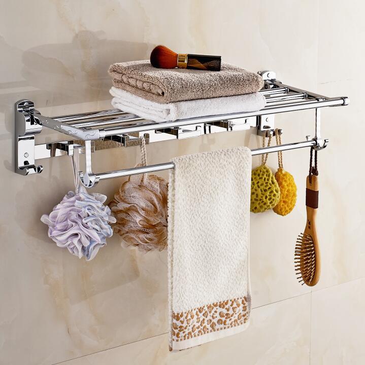 Stainless steel 304 bathroom towel rack double bath towel holder shelf bathroom towel holder shelf chorm. Online Buy Wholesale bath towel holders from China bath towel