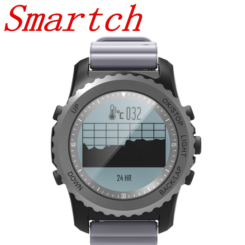 Smartch S968 Bluetooth Smart Watch IP68 Waterproof Support Air Pressure GPS Heart Rate M ...