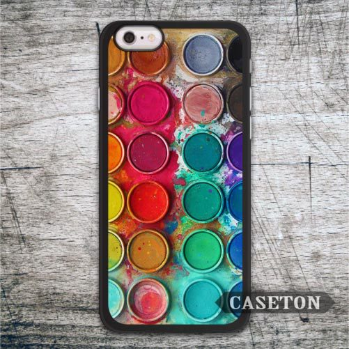 Vintage Watercolor Set Case For iPhone 7 6 6s Plus 5 5s SE 5c and For iPod 5 High Quality Classic Paint Box Phone Cover
