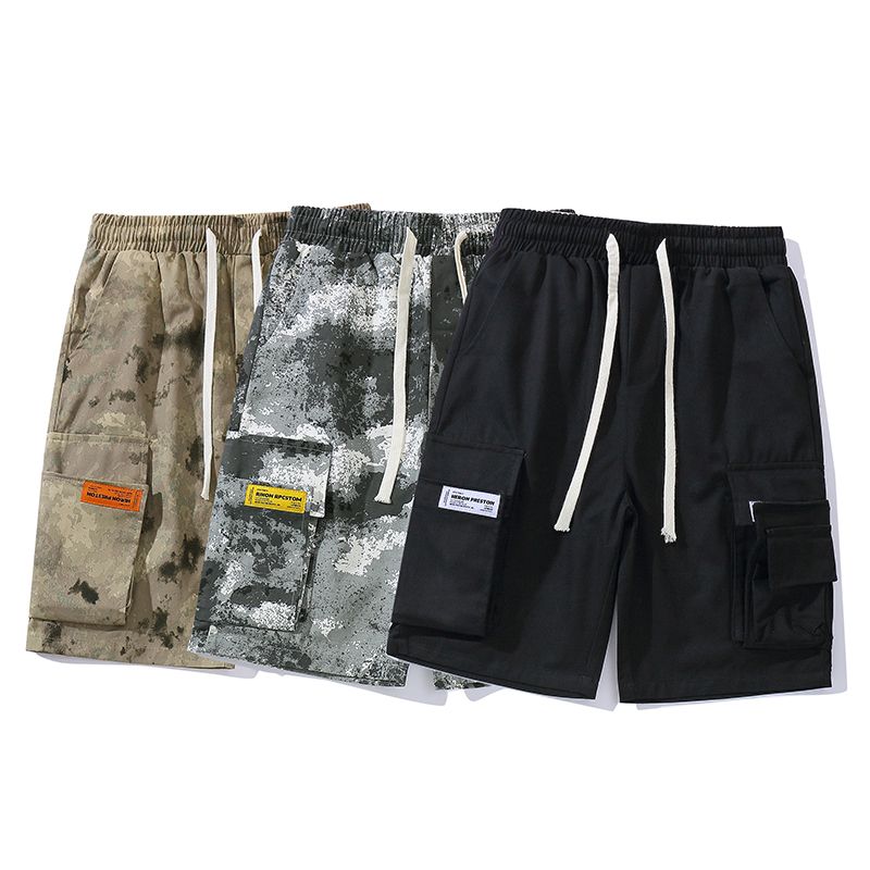 Newest Heron Preston Shorts Men Camouflage Fashion Drawstring Camo Streetwear Beach Shorts Summer Style Heron Preston Men Short