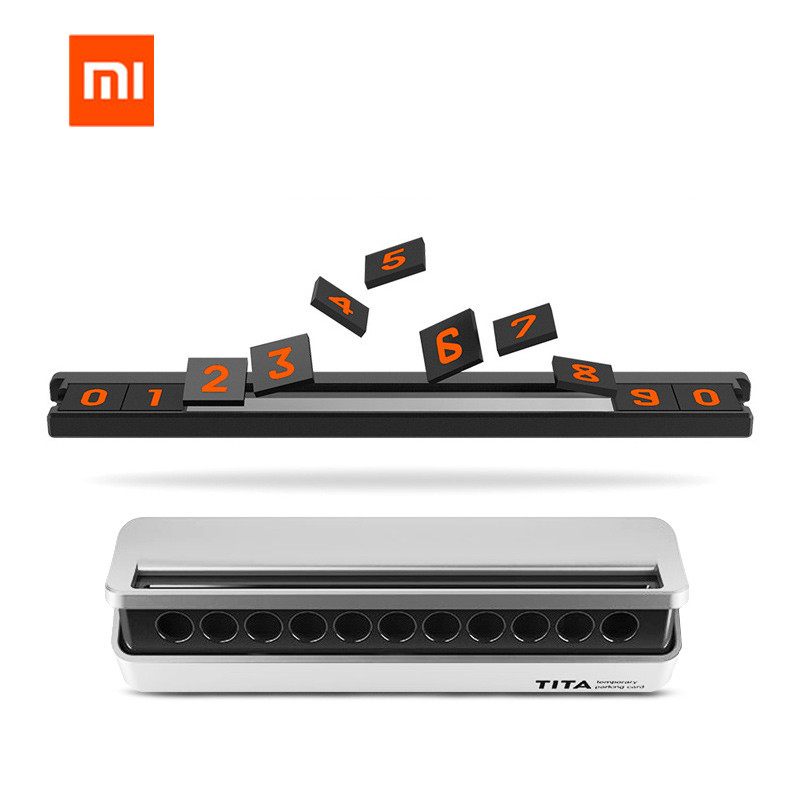 Original Xiaomi Mijia Bcase Tita Flip Type Car Temperary Parking Phone Number Card Plate For Xiaomi Smart Home