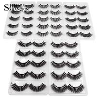 SHIDISHANGPIN 250 pairs 3d mink eyelashes bulk mink false lashes wholesale false eyelashes wholesale 3d fake lashes DHL free