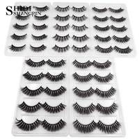 SHIDISHANGPIN 250 pairs 3d mink eyelashes bulk mink false lashes wholesale false eyelashes wholesale 3d fake lashes DHL free
