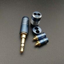 Universal 4.4mm-3.5mm-2.5mm Headphones Audio Plug Case & Stereo Straight Splitter Slider MMCX0.78 Pin Set