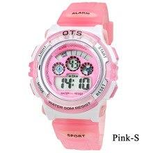 Children's watches Candy colors OTS Kids Montre digitale Watch relogio boys girls Children Silicone strap watch for children