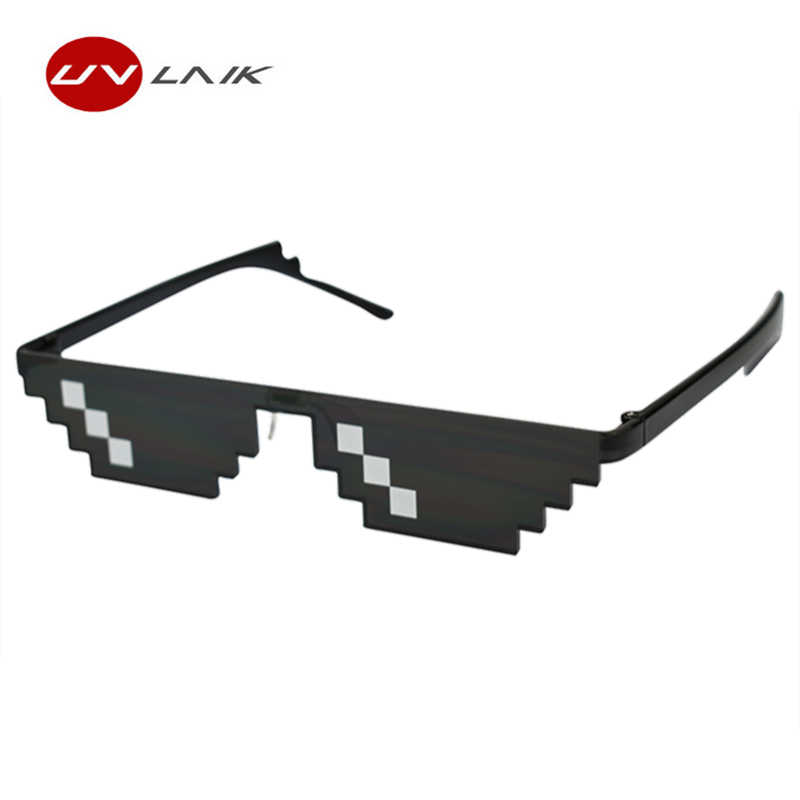 Responsible Uvlaik Deal With It Glasses Mens Womens Mosaic Sun Glasses Minecraft Polygonal Thug Life Sunglasses Women Men Around The World Fashionable Style; In