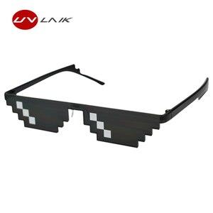 Очки UVLAIK для мужчин и женщин, солнцезащитные очки 8 бит, вечерние очки