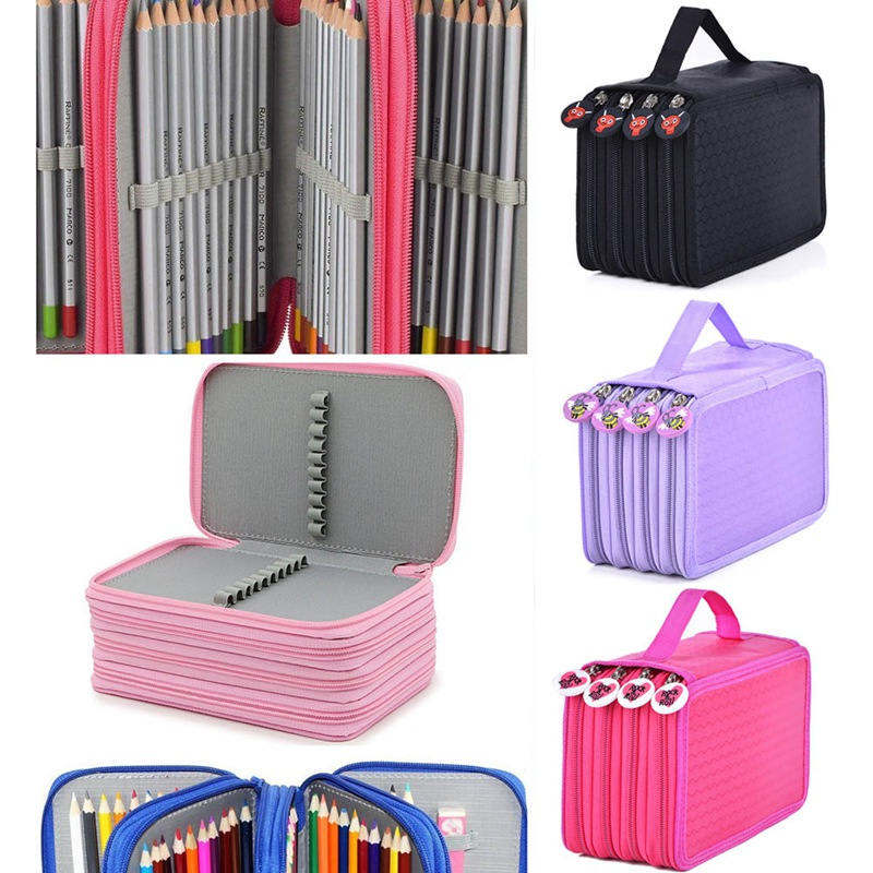 Oxford School Pencil Case Kawaii 72 Holes Pencilcase Large Capacity Pen Bag Box Kids Multifunction Stationery PouchOxford School Pencil Case Kawaii 72 Holes Pencilcase Large Capacity Pen Bag Box Kids Multifunction Stationery Pouch