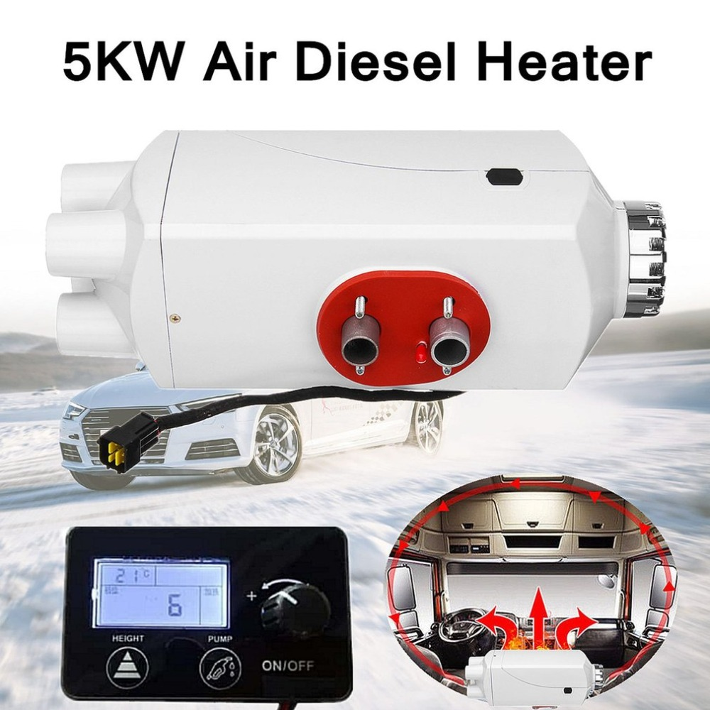 12V 8KW diesel Air Heater Vent Duct Caravan Bus Remote Control LCD Monitor 2019 Car Heating & Fans