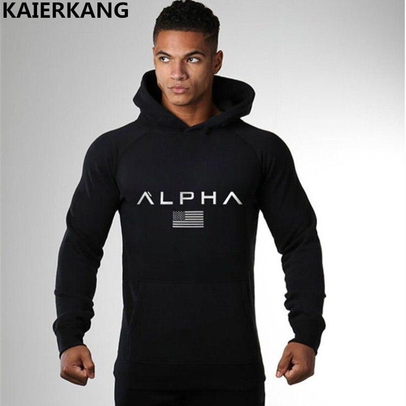 Men gyms hoodies Fitness bodybuilding hoodies Sweatshirt Crossfit pullover sportswear male workout men Hooded Jacket clothing