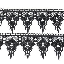 1 meter Cheap Black Ribbon Lace Fabric For Wedding Decoration DIY Craft Applique Embroidery Sewing Trim Garment Supplies(China)