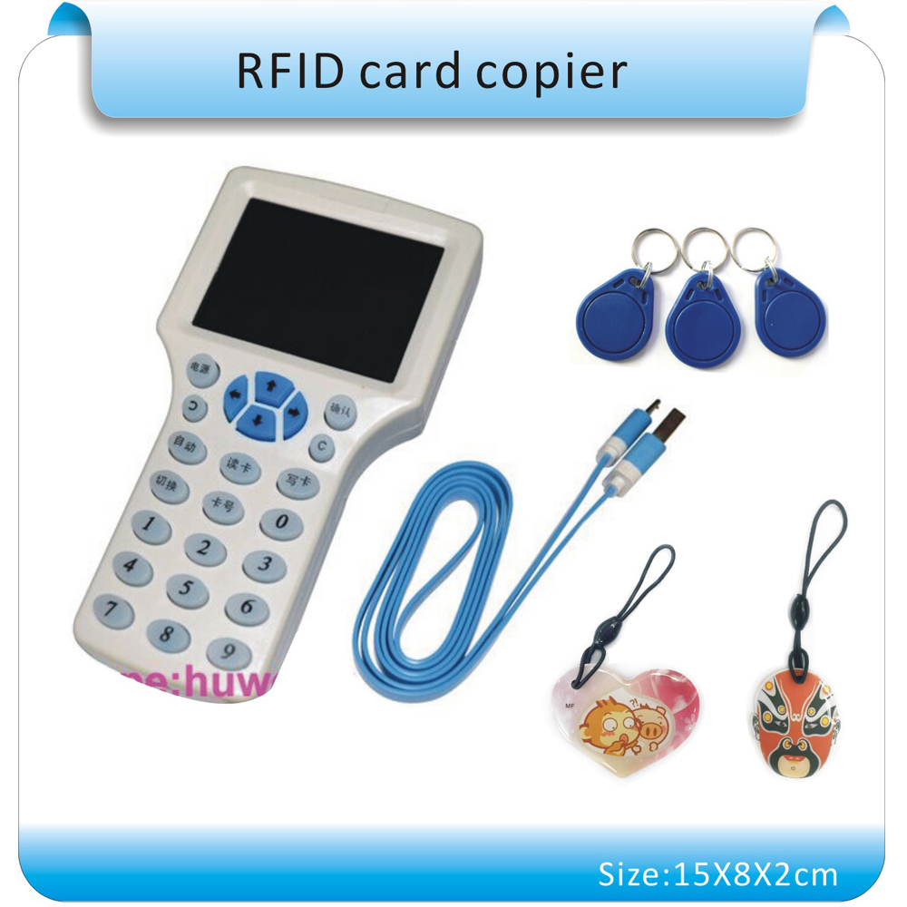 ФОТО Super 13.56MHZ  RFID  Card Reader & Writer/ RFID Copier/Programmer  copy encrypted to Sector0+20pcs Rewritable KeyFob