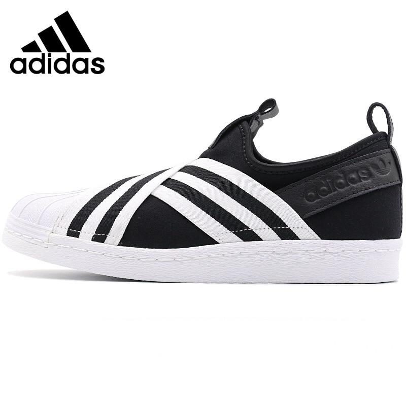 Original New Arrival  Adidas Originals SUPERSTAR SLIPON W Women's Skateboarding Shoes Sneakers