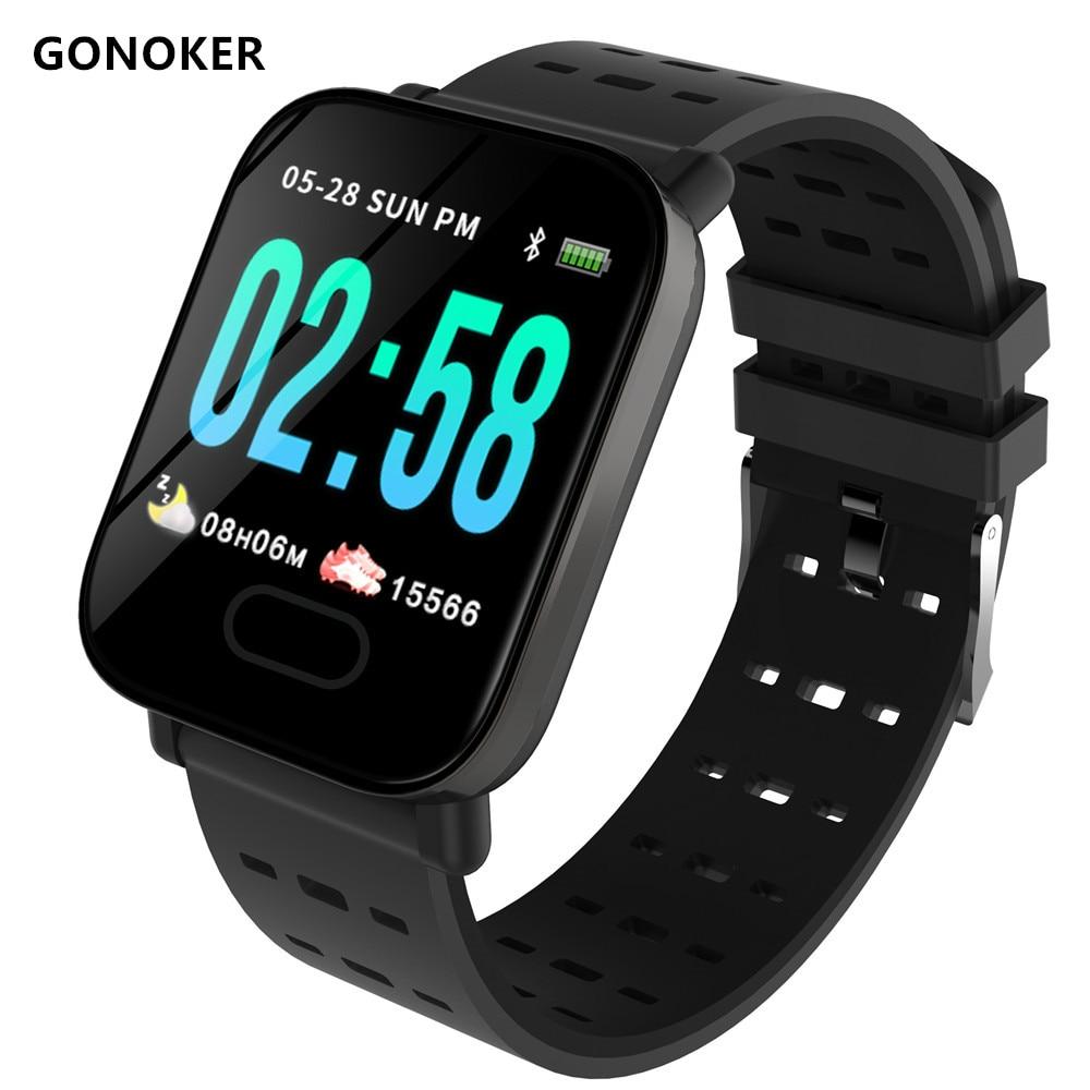 A6 SmartWatch Bluetooth Intelligente Del Braccialetto Orologio Da Polso Touch Screen, Professionale Impermeabile Intelligente Orologio DZ09 X6 VS M2 A1