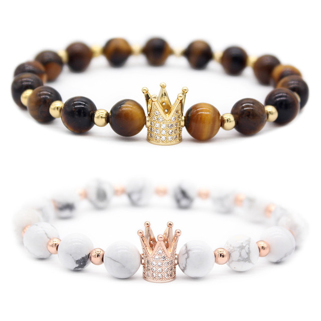 Distance Bracelets King And Queen oeil de tigre