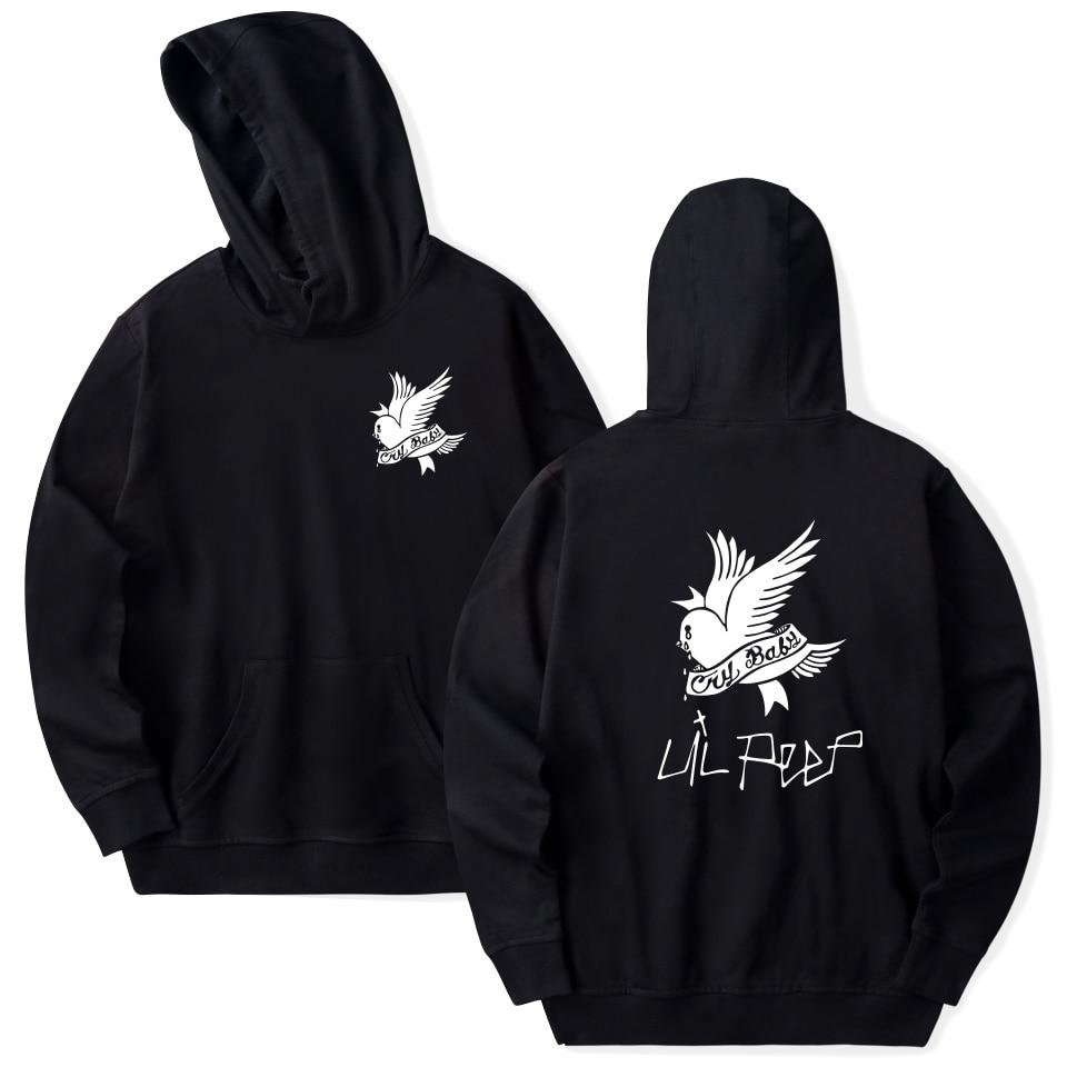 2018 Lil Peep casual Hoodie plus size tops hip hop Pullover Harajuku hoody ladies Sweatshirt unisex Hoodies and Sweatshirts