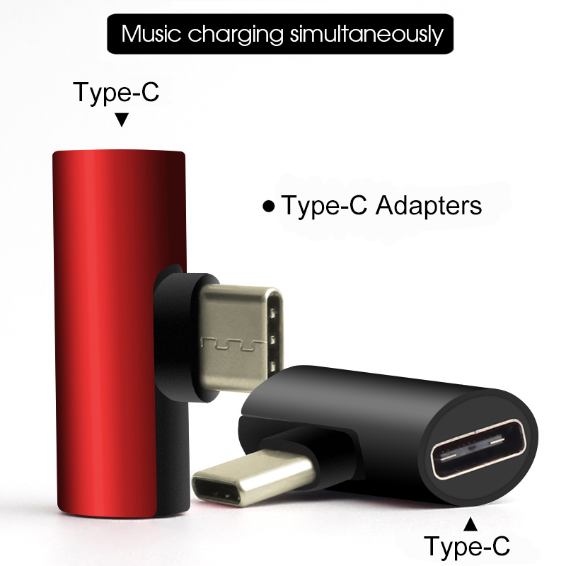 3 In 1 USB C To Type-c Adapter USB Type C Charging Cable Charger Earphone Converter For Xiaomi Mi 8 Mi6 Leeco Headphone Adapters