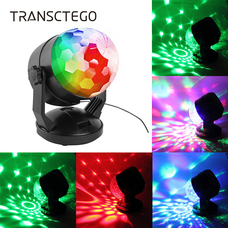 Led Portable Disco Light Ball Lumiere Battery Power Laser Sound Activated Party Lights For DJ Home Stage Lamp USB Disco Lights