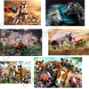 Horses 5D Diy Diamond Embroidery Painting Square Mosaic Drill Resin Animals Full 3D Cross Stitch Kits