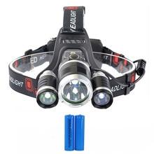 PANYUE Super Bright RJ3000 3T6 LED Headlamp 5000LM Headlight 18650 Rechargeable Head Light Flashlight Torch Forehead