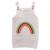 QUIKGROW Causal Diseño Del Arco Iris de Los Niños Más Pequeños de 3-4 Años Suéter Vestido de la Muchacha Del Niño Suspender Ropa de Punto FE06MY