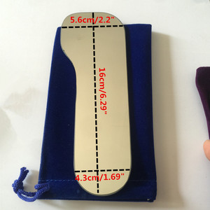 Image 5 - 5pcs שיניים אורתודונטי Intraoral רפלקטור צילום מראה 2 צדדי רודיום זכוכית מראות עם אחסון תיק למרפאת שיניים