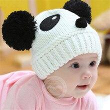 Детские детские Мультики Panda Мяч Ручной Вязки Крючком Шапочка Шапочка Зимняя Шапка T55