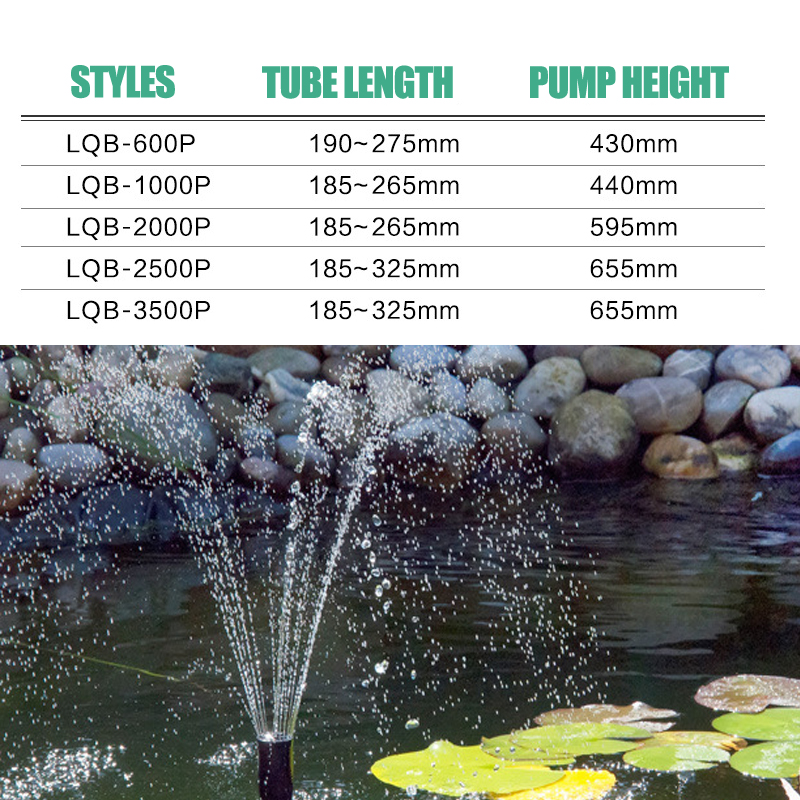 Image 2 - 8/14/24/55/85W High Power Fountain Water Pump fountain Maker Pond Pool Garden Aquarium Fish Tank Circulate & Multi Performance-in Fountains & Bird Baths from Home & Garden