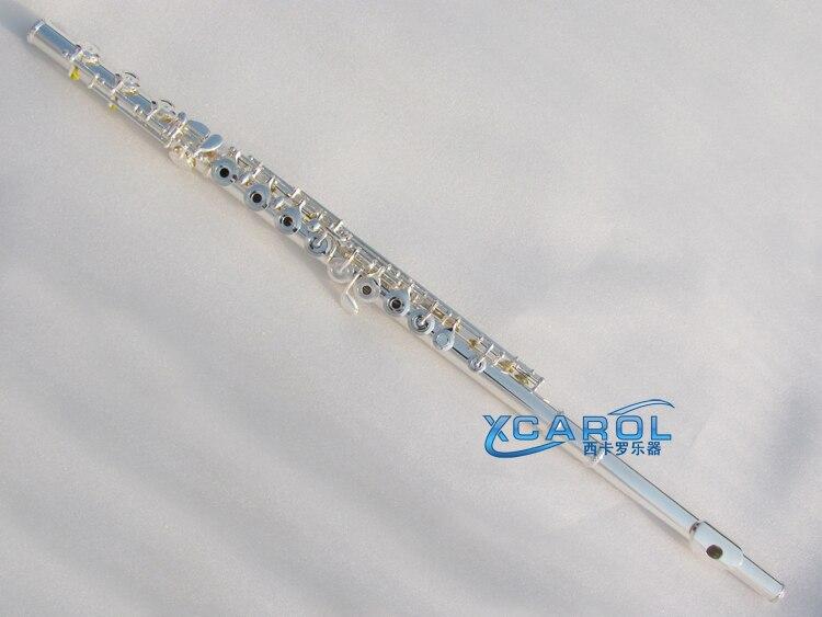 silver  New flute 17 hole Open Hole Powerful Sound Profession E key  n Keys new color 17 open hole purple flute e key case