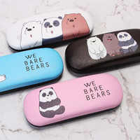 Cartoon Glasses Box High Quality Student School Cases Matel Hard Cover Eyeglasses Protector Spectacel Eyewear Case For Women