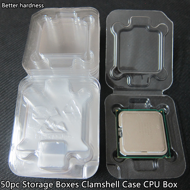 Case Storage-Boxes Cpu-Box Clamshell 1156 50pc Specifications/ic for Intel 775/1155/1156/0ther title=