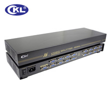CKL-916B High Quality 16 port VGA Splitter 1 to 16 VGA Distribution for Projector,Display,TV support 450Mhz 2048*1536
