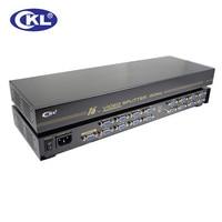 CKL 916B High Quality 16 port VGA Splitter 1 to 16 VGA Distribution for Projector,Display,TV support 450Mhz 2048*1536