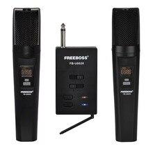 FREEBOSS FB U9020 2 Way 2x30, Регулируемая частота, 2 ручных Bluetooth микрофона для вечеринок, церкви, школы, ди Джея, караоке